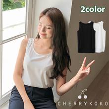 CHERRYKOKO - Korea Premium Fashion Brand - Basic Sleeveless / roseskin sleeveless