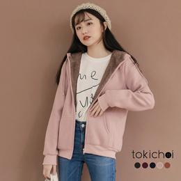 TOKICHOI - Combing Zipper Hooded Jacket-181642-Winter