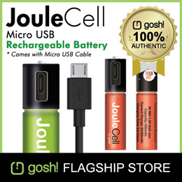 Gosh! The Worlds 1st Micro USB Rechargeable Battery With Cable!