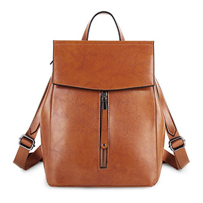 d6a7a45796cd YALUXE Genuine Leather Fashion Womens Backpack for Women Handbag School Bag  Shoulder Bag Tote for Wo