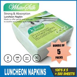 *5pkts* WhiteSilk Luncheon Napkin *100shts/pkt*