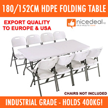 [Lowest Price] 152cm HDPE Folding Table - Holds 400KG / Industrial Grade / US Export Quality