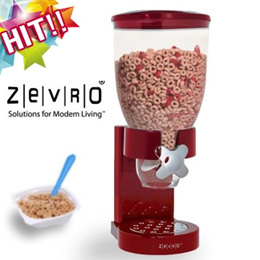[Zevro]Cereal dispenser for candy granola nuts chocolate stand type children snack