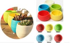 Wholesale Plastic Flower Pot Colourful Flower Pots Mini Flowerpot Garden Unbreakable Plastic flower