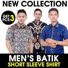 [Get 3 Pcs] Mens Batik Shirt Collections 2 - The City of Batik in Pekalongan - Best Seller of Batik