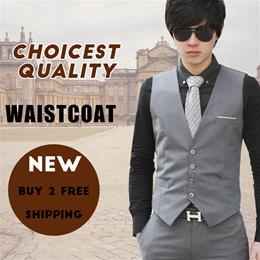 【2019 Happy New Year】 new arriva men Korean fashion dress Suit Vests Business Leisure Vest Plus Size