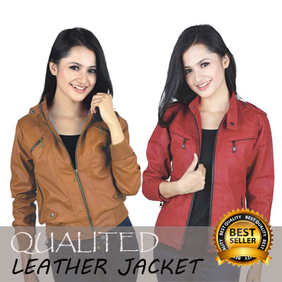 CLEARANCE SALE!!! Jaket Semi Kulit Wanita // Size S Deals for only Rp125.000 instead of Rp125.000