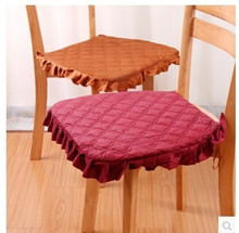 1 Solid color fabric plush chair dining chair cushion pad cushion washable quilted sofa cushion K2277