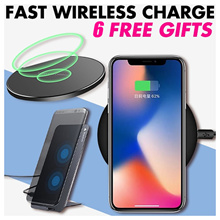 [2nd Pcs 50%OFF]Wireless charger output 9w QI Fast Safe for Apple Samsung IPhoneX IPhone8 7 6 Note8