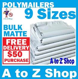 [BULK 100pcs] MATTE WHITE Plastic Mailer Courier Mailing Packaging Mailing Polymailer Bubble wrap