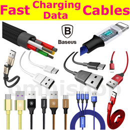 Baseus Cable Micro USB Type C Type-C iOS Lightning Data Charge adapter iphone Samsung OPPO Huawei