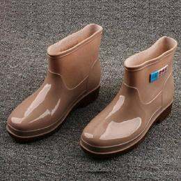 Cazlo Short tube Early autumn work rain Boots kitchen Rain Boots rubber and plastic PVC short Waterp