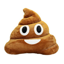 Emoji Poop Shaped Stuffed Pillow Cushion Smiley Face Doll Toy