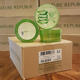 3 6 9 or 12 jars Nature Republic Soothing and Moisture Aloe Vera 92% Soothing Gel