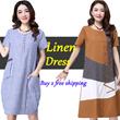 【LAZYWOMAN】 BUY 2 OR 3 FREE SHIPPING Japanese Linen LIUS SIZE dress Designed PLUS SIZE Maternity