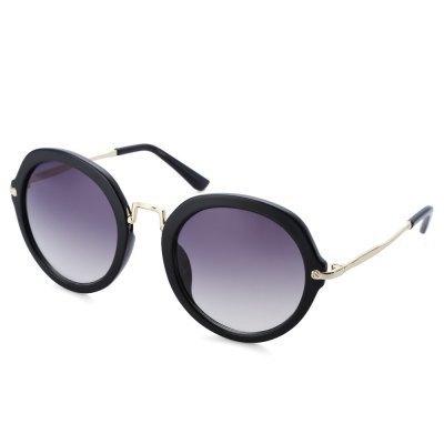 Stylish Ladies Round Frame Gradient Sunglasses