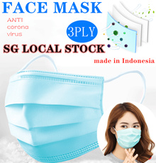 [Local shipping] ❤ 3 Ply Surgical Mask ❤ [50PCS / BOX] Made in Indonesia