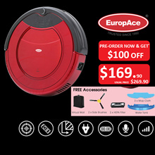 *SAVE $100 - PRE-ORDER* EuropAce Robotic Vacuum Cleaner (Wet and Dry) ERV 3031T - 1 YEAR WARRANTY