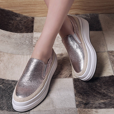 015d41c67b26 2018 New Spring Loafers Fisherman s shoes Flats pedal big size thick bottom  40 muffin shoes