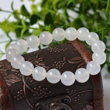 Fashion Women Crystal Round Moonstone Natural Stone Stretch Beaded Bracelet ZAS