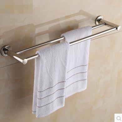 Bathroom Racks Double Rod Towel Bar Hanging Toilet Single Pole Rack