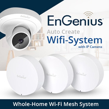 ENGENIUS EnMesh Unique Whole-Home Wi-Fi Mesh System with IP CAMERA Features! No Wires to Run.Full Network Insight. True Mesh Link Tech Eliminating Dead Spots Buffer Lag.Local 3 Years Warranty!
