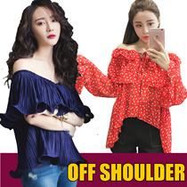 2018 NEW Korean dresses/off shoulder  tops/knitt T-shirts/Sling shirt/Strapless/Cheapest