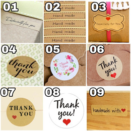 Message Stickers Thank You Gift Handmade Cookie Bag Xmas Christmas Especially