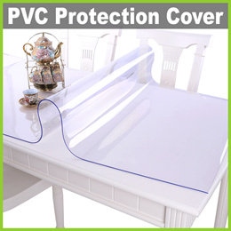 ★ Transparent Tabletop PVC Protection Cover ★ Protect Dining Coffee Table Shelf Drawers Cupboard