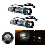 2pcs 3000 Lumen Zoomable CREE XM-L Q5 LED Flashlight Torch Zoom Lamp Light