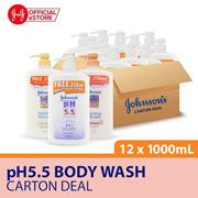 【JOHNSONS】Johnson pH5.5 Body Wash 750+250ml x12 bottles (Honey/Almond/Moisturizing)
