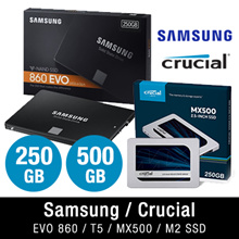 $189 LIMITED QTY 1TB DEAL! 500GB Samsung EVO 860 T5 | Crucial MX500 250GB | 500GB | 1TB SSD M2 Drive