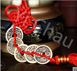 Kat karma opening Five Emperors money pendant six coins numismatic Qing emperor Qian Lucky town hous