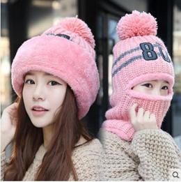 Korea woolen yarn hat warm scarf/Lovely winter earmuffs cap knitted cap