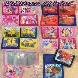 Children Kids Wallet Coin Pouch Birthday Goodie Bag Boys Girls Spiderman Pooh Cars Princess Kitty