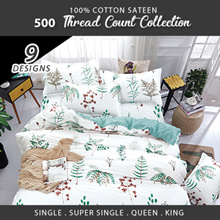 Fitted Sheet Sets / Quilt Cover Sets / Microfine Wrinkle-free / 500 Thread Count