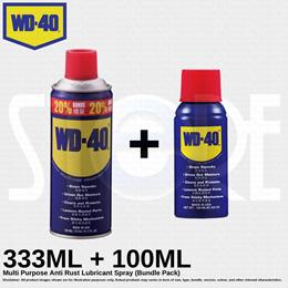 WD40 Multi Purpose Anti Rust Lubricant Spray 333ML +100ML (Bundle Pack) Made in USA