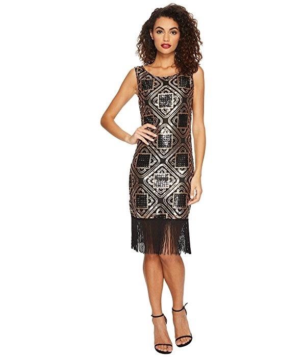 e444482e400 Qoo10 - Unique Vintage Sequin Fringe Flapper Dress   Women s Clothing
