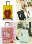★ Travel with Kitty n Bear  ★ Updated 29/11/2016 ★  Size 20-24 Inch - Cute Hello Kitty n Bear Luggage Stretchable Protector *5 designs*