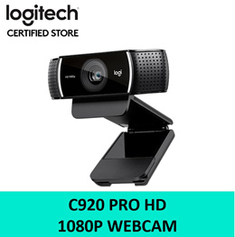 Logitech C920 Pro HD Webcam (Replacement of C922) 1080p Stereo Audio Auto Focus 2 Years SG Warranty