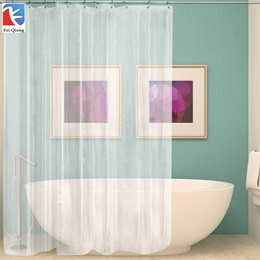 FeiQiong Brand Clear Shower Curtain Liner 72x72, Waterproof Mildew Resistant  for The Bathroom, 12 M