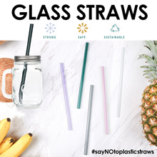 GLASS STRAWS♥ Eco Friendly Reusable StrongSafe.Help save the earth ! KFC No more straw