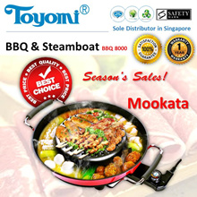 TOYOMI BBQ Steamboat MOOKATA  [Model: BBQ 8000] - Official TOYOMI Warranty Set. 1 Year Warranty.