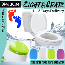 🇸🇬🚽Toilet Seat Universal soft-close lip cover/bidet/Quick remove easy clean / variety colour