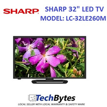 Sharp Aquos 32 Inch WXGA LED TV *Model: LC-32LE260M *3 Years Local Manufacturer Warranty