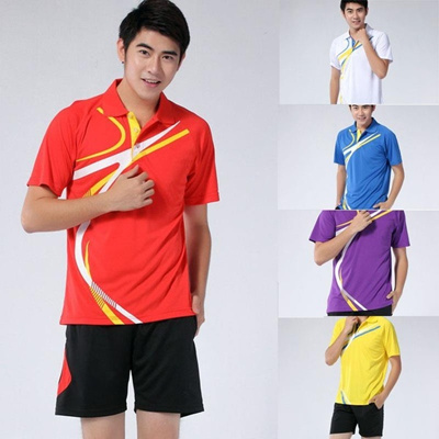 4c9606424bf6b4 NEW Men s Badminton Wear Kit Athletic Wear Leisure Running 5 Colors 6 Size  K SMA029