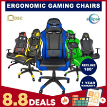 Ergonomic Gaming/Performance/Racing/Office Chair / 180 degree Backrest / Ready Stock / eSport