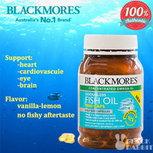 [Qprime]【Cardiovascular/Eye Health】Blackmores Odourless Fish Oil 1000mg 400 miniCap EXP Oct 2021