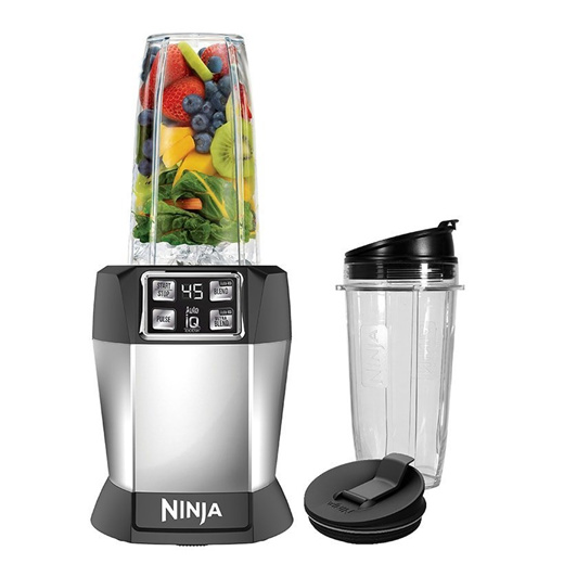 [S$149.00](▼35%)[Ninja Kitchen]Ninja Blender Auto-IQ Blender (BL480) / 1000 watts / juicer / patented blade / smoothie