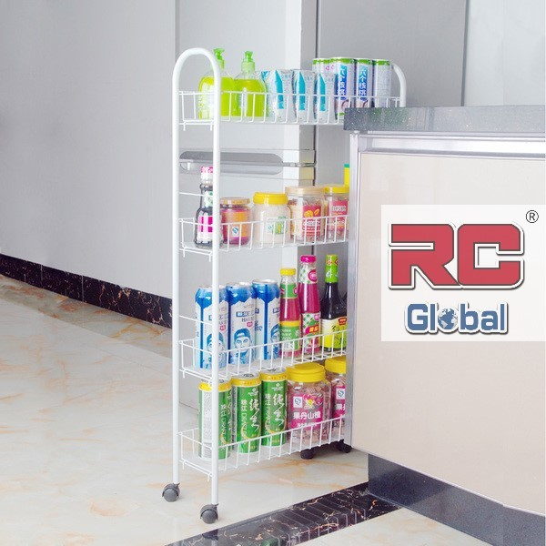Refrigerator Side Storage / Kitchen Storage / Side Shelves / Storage Racks  / (RC